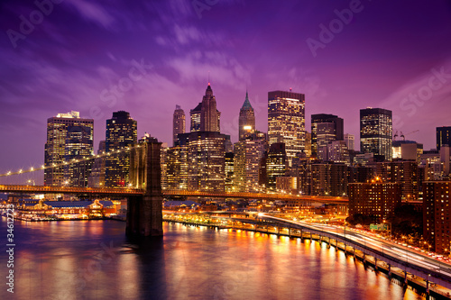 Poster Brooklyn Bridge New York Manhattan Pont de Brooklyn