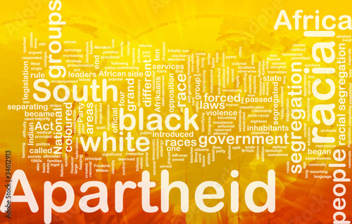 Apartheid background concept Canvas Print