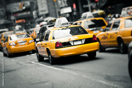 Obraz New York taxis - fototapety do salonu
