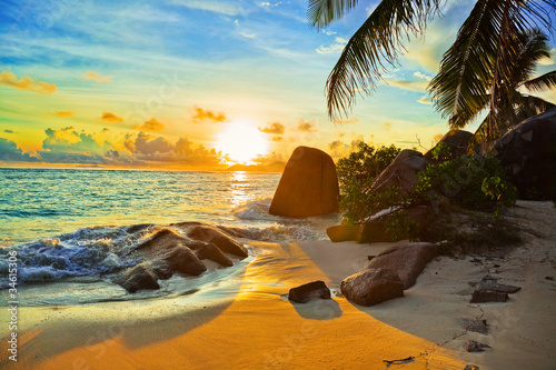 Foto-Rollo - Tropical beach at sunset