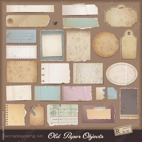 Foto digital scrapbooking kit: aged paper