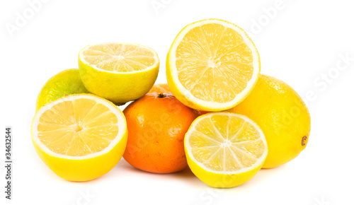 Lemon, lime and orange citrus fruit slices