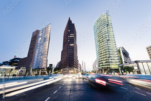 Photo  Potsdamer Platz Night Traffic