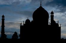 Taj Mahal Silhouette, Agra, India