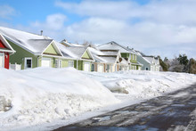 Winter Rowhouses