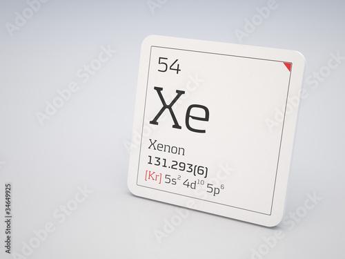 Fotografia  Xenon - element of the periodic table