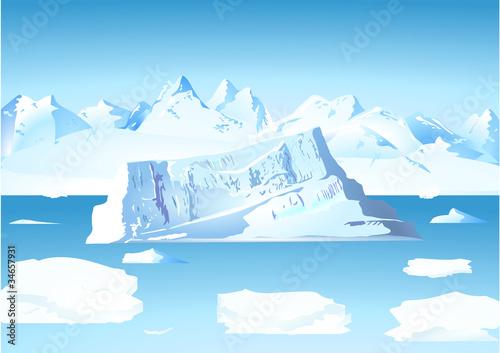 Eisberg mit Gletscher #34657931