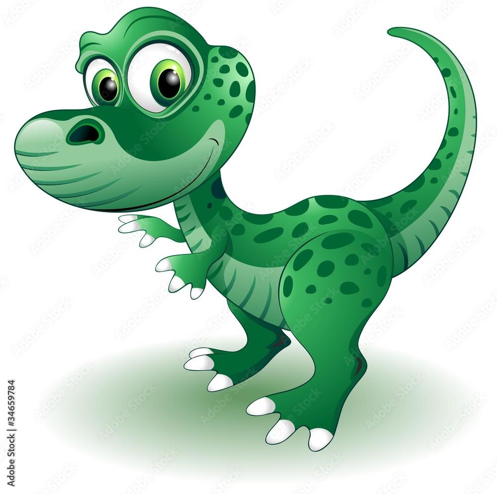 Naklejka Ozdobna Tatuaż ścienny Dinozaur Puppy Baby