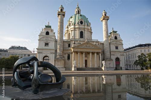 Vienna - Charles Boromeo baroque church