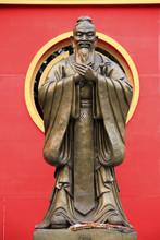 Confucius Statue Wat Traimet Bangkok