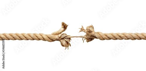 Fototapeta rope string risk damaged obraz
