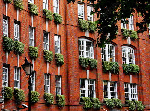Brick Town House With Window Boxes Buy This Stock Photo And