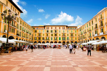Majorca Plaza Mayor In Palma D...