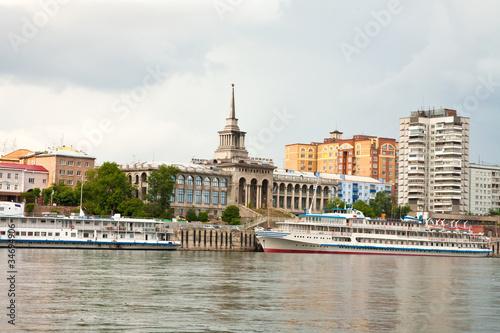 Fototapeta Krasnoyarsk. River station obraz