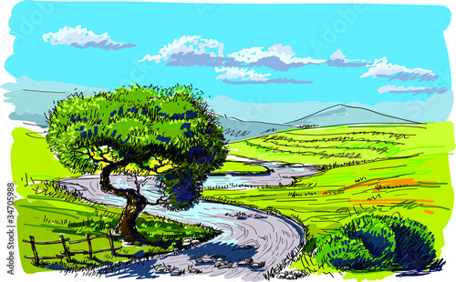 Spoed Foto op Canvas Turkoois Beautiful nature background
