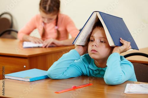 Fotografie, Obraz  Boy with book