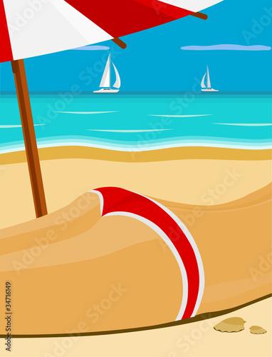 Obraz Girl On The Beach - fototapety do salonu