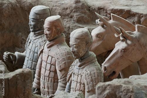 Spoed Foto op Canvas Xian Armée de terre cuite, Chine 12