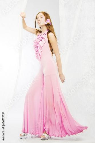 Garden Poster pink girl