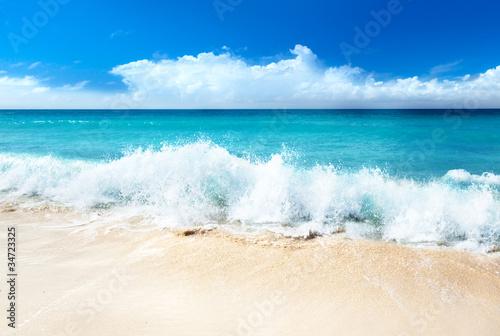 Foto auf Gartenposter Wasser sea and sand