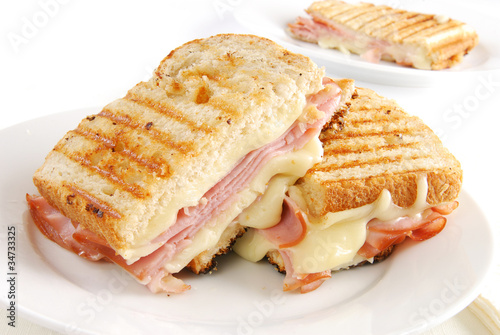 Photo Stands Snack Grilled ham and cheese sandwich