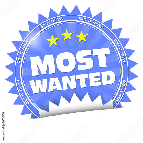 Most Wanted Get It Now Button Sticker Aufkleber Buy This