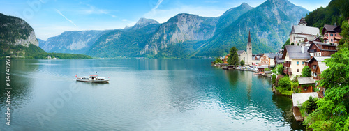 Photo sur Aluminium Piscine Hallstatt view (Austria)