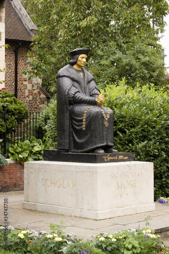 Thomas More statue, Chelsea Poster