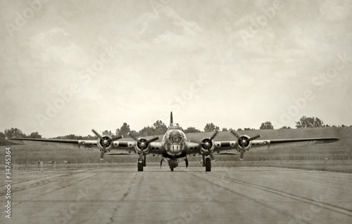 Old bomber Canvas Print