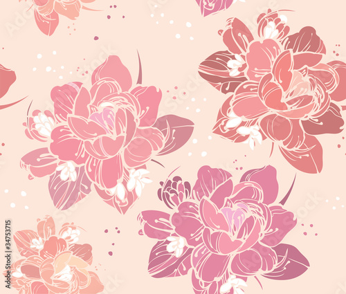 a beautiful color picture seamless floral background