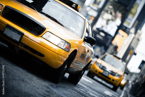 Vászonkép New York taxi