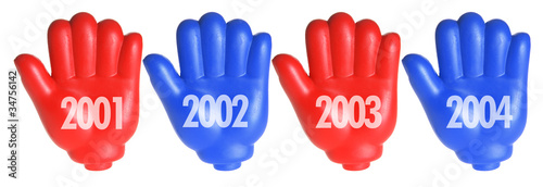 Fotografia  Red Toy Hands with Years