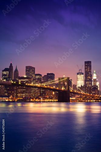 Keuken foto achterwand San Francisco New York pont de Brooklyn