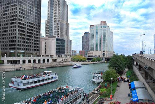 Poster Pekin Chicago River Tour