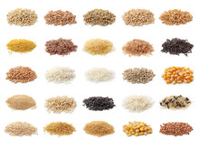 Cereals Collection Isolated On...