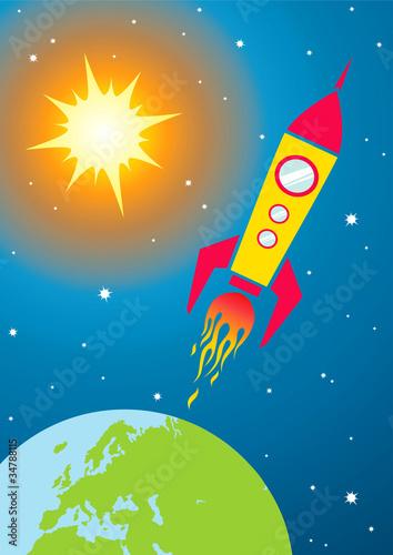 Foto op Canvas Kosmos Spacecraft in space