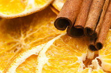 Dried Orange And Cinnamon Sticks - Christmas Decoration