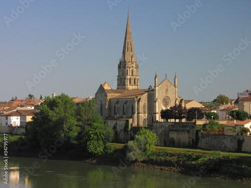 Papiers peints Ville sur l eau Ville de Langon ; Guyenne ; Vallées du Lot et Garonne
