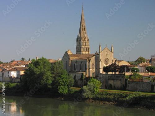 Foto auf AluDibond Stadt am Wasser Ville de Langon ; Guyenne ; Vallées du Lot et Garonne
