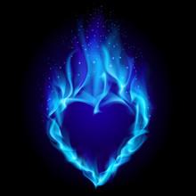 Heart In Blue Fire