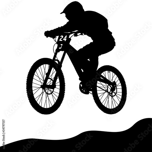 Stampa su Tela Mountainbike Downhill