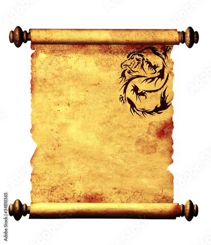 Sheet of ancient parchment © frenta