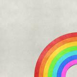 Fototapeta Tęcza - rainbow recycled paper craft background