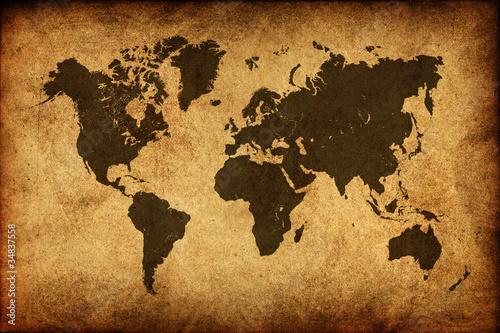 Fototapeta mapa starozytna-mapa-swiata