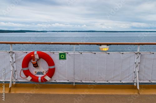 Fahrt mit der Faehre von Oslo nach Kiel. Poster