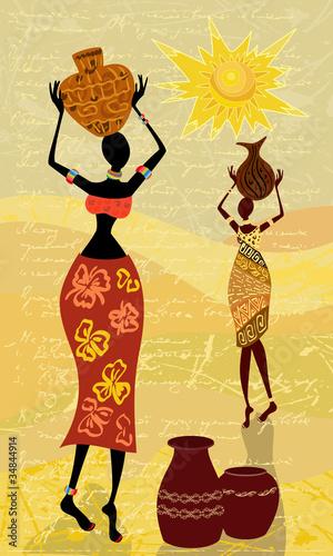 krajobraz-z-afrykanska-kobieta-dekoracyjna