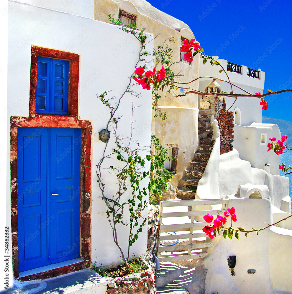 Fototapety, obrazy: traditional Greek islands series - santorini