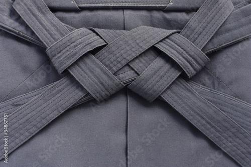 Photo folded aikido hakama , japanese martial arts uniform