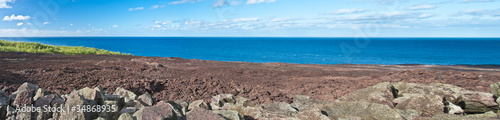 Tuinposter Vulkaan coulée du Piton de la Fournaise, île de la Réunion