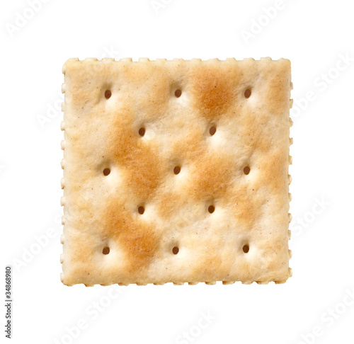 Fényképezés Saltine Cracker isolated on white